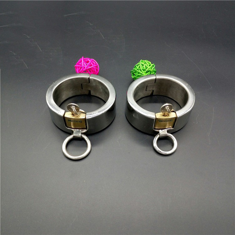 sex shop bondage restraints handcuffs for sex toy SM fetish stainless steel handcuffs metal adult sex game for couples