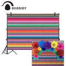 Allenjoy photography background Mexican carnival cinco de mayo serape fiesta colorful stripe decor backdrop photocall photophone
