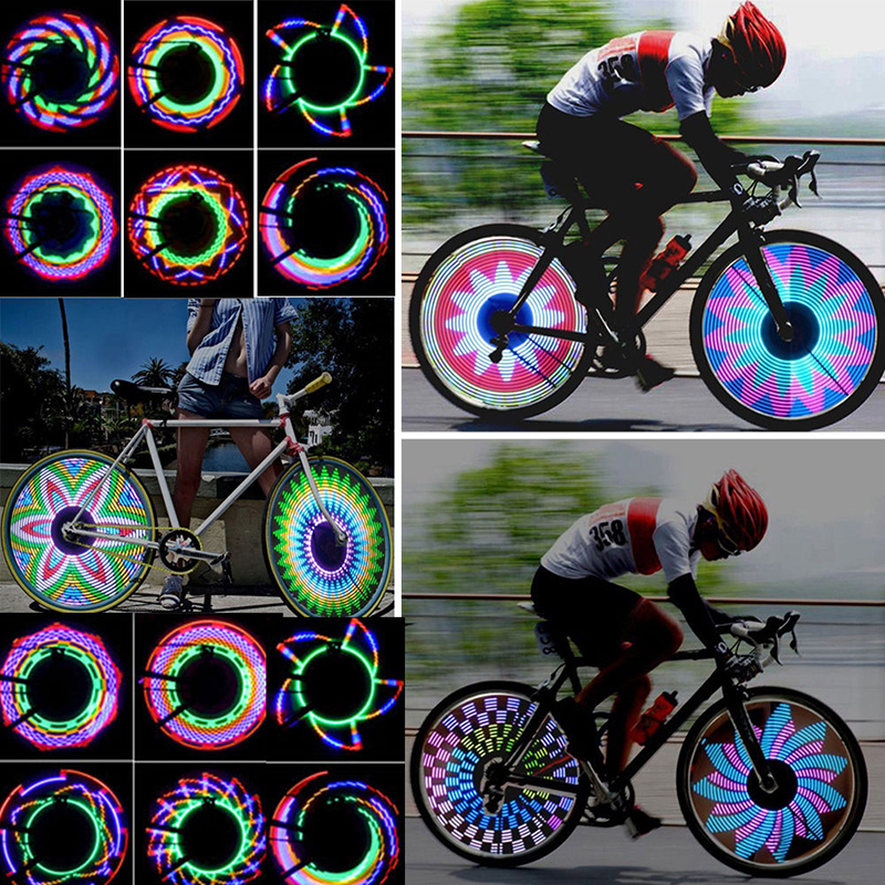 motorcycles or cars 4 Lights Bike Safety Lights LED Lights for tires on bikes