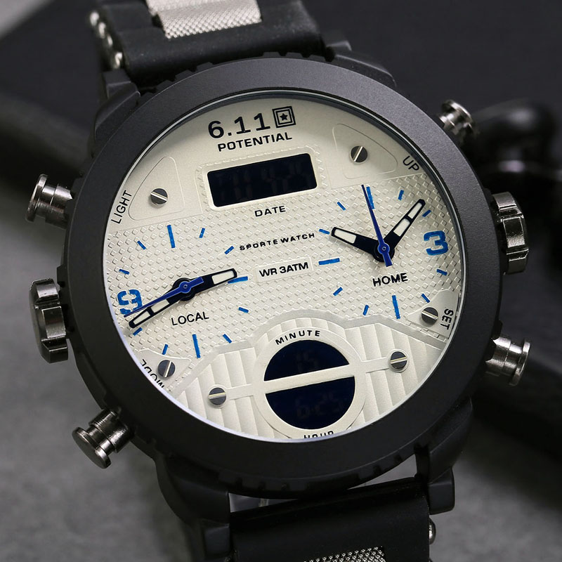 128ab8929bd 6.11 Nova Marca de Moda de Luxo de Couro Assista Banda Incolor Chameleon Espelho  LED Relógio