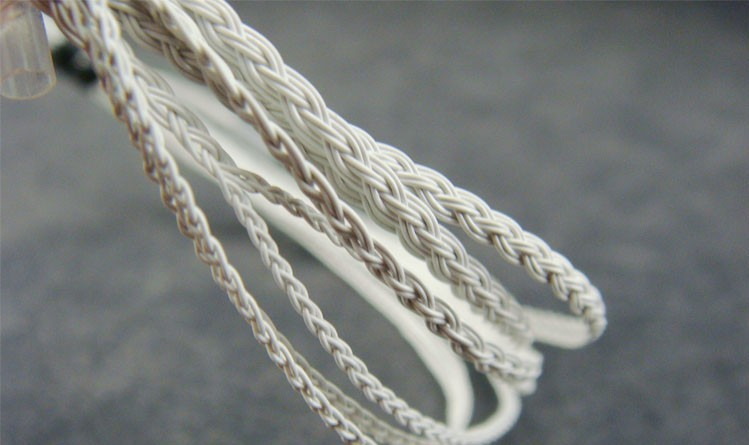Heart of Ocean Silver plated wire Headphone cable/DIY braided wire ...