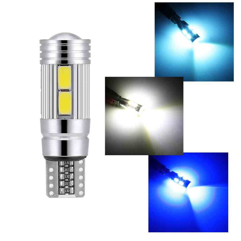 1 Piece Car Styling Car Auto LED <font><b>T10</b></font> Canbus 194 W5W <font><b>10</b></font> <font><b>SMD</b></font> 5630 LED Light Bulb No Error LED Light Parking <font><b>T10</b></font> LED Car Side Light image