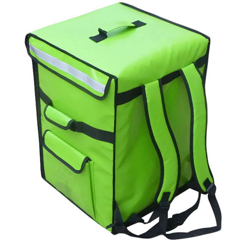 42/58L Large Takeaway Backpack/Lunch Box Fast Food Pizza Delivery Incubator Ice Bag Waterproof Refrigerated Insulation Make LOGO