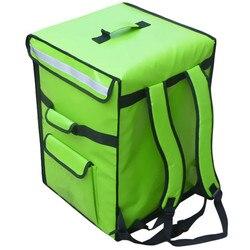 62L grote takeaway rugzak/box/lunchbox fastfood pizza levering incubator ijs zak waterdichte gekoelde isolatie koffer