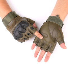 Fingerless Tactical Gloves Men's Leather Military Army Shooting Paintball Airsoft Bicycle Motorcross Combat Gloves Half Finger