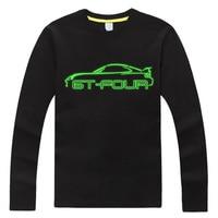 GT four car shirt GT4 GT 4 men big sizes t shirt party t shirt glow in the dark 100% cotton long sleeve top 4xl,5XL,6XL