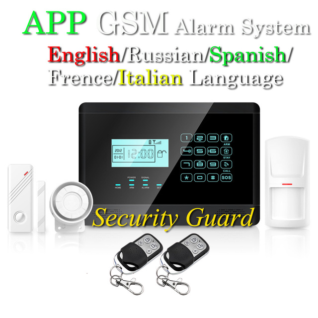Free Shipping Wholesale Wireless GSM Alarm System  Auto Dail with LCD Touch KeyBoard Voice door PIR Detector, New Earykong M2E