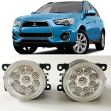 цены Car Styling For Mitsubishi Outlander Sport ASX 9-Pieces Leds Chips LED Fog Light Lamp H11 H8 12V 55W Halogen Fog Lights