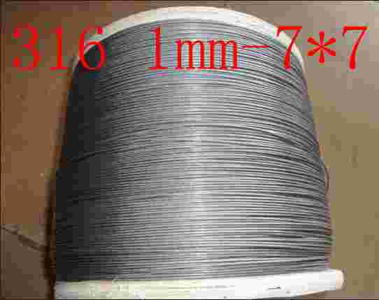 316 Material,1.0mm-7*7,stainless Steel Wire Rope Steel Wire Rope Steel Cord Wire Line Tow Rope Clothesline
