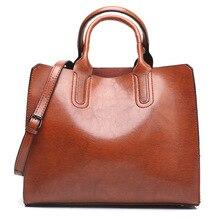 Brand Shoulder Bags for women 2019 luxury handbags women bags designer Female Elegant Oil wax Pu Leather Tote Handbag And Purse цены