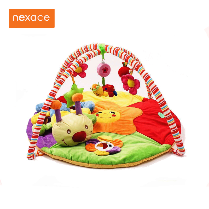 Baby Toy Gym Mat Play Rug Musical Carpet Children Caterpillar