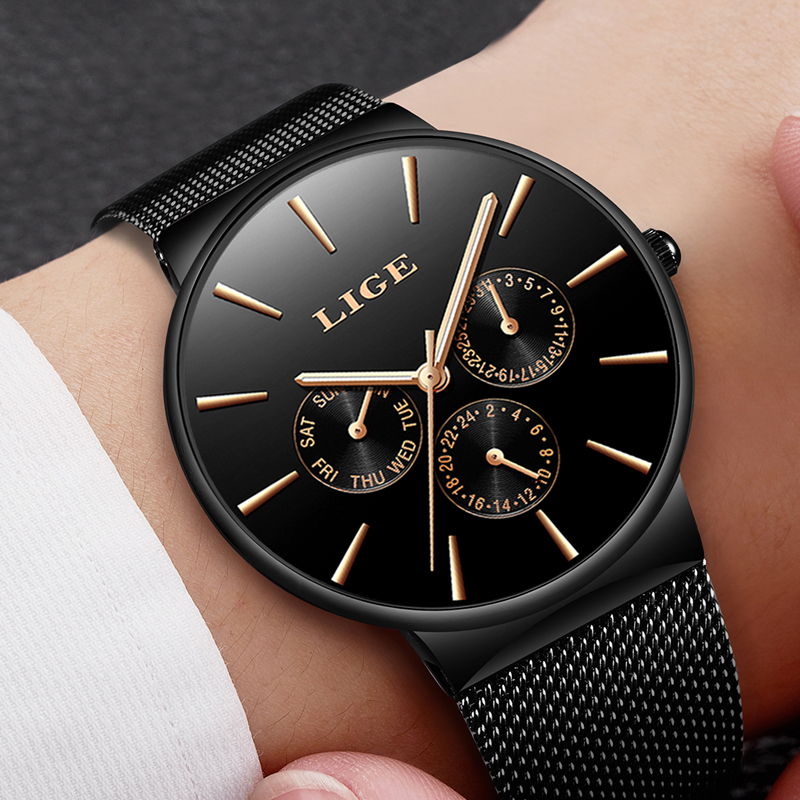 Men Watchs Men's Quartz Watches 2018 New LIGE Top Luxury Brand Sport Fashion Casual Business Waterproof Male Clock reloj hombre xinge top brand luxury leather strap military watches male sport clock business 2017 quartz men fashion wrist watches xg1080