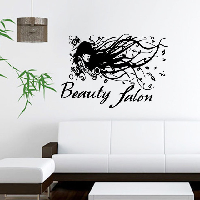 Beauty Salon Wall Stickers Decoration Self Adhesive Film Wallpaper ...