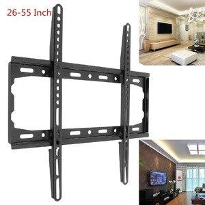 Image 1 - Universel pratique 45KG TV support de montage mural fixe écran plat TV cadre pour 26 55 pouces LCD moniteur LED écran plat