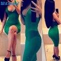 Бесплатная Доставка Новая Мода Сексуальные Женщины Бинты Рукавов Slim Fit Коктейль Клубная Одежда Платье MA30