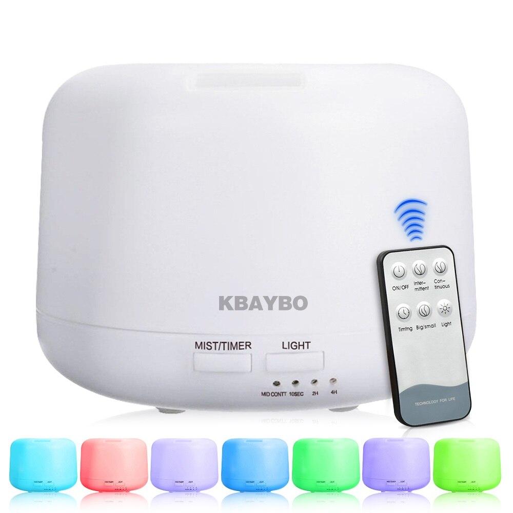 Control remoto 300 ml humidificador ultrasónico del aroma del aire con 7 color luces aromaterapia eléctrica Aceites aroma difusor