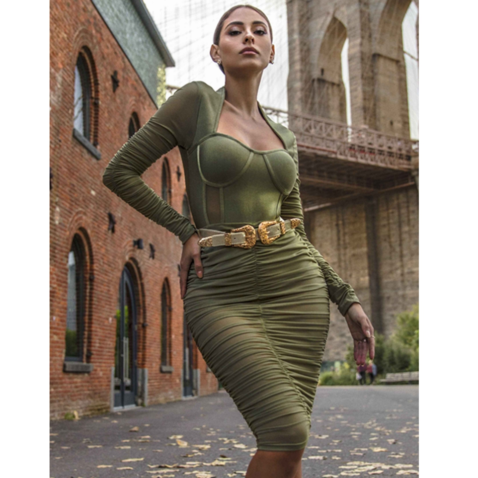 Buy olive green bandage dress and get free shipping on AliExpress.com ee873fab18fe