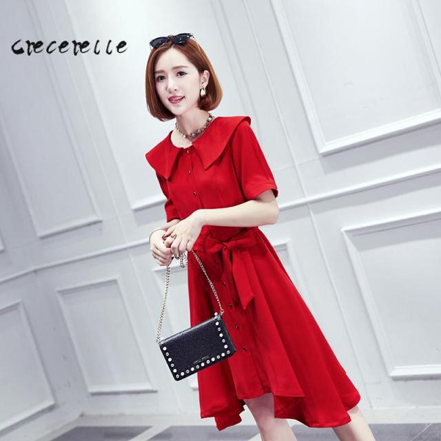 The Big Summer Dress Code Plump Sister Fashion Dress Lapel Cover