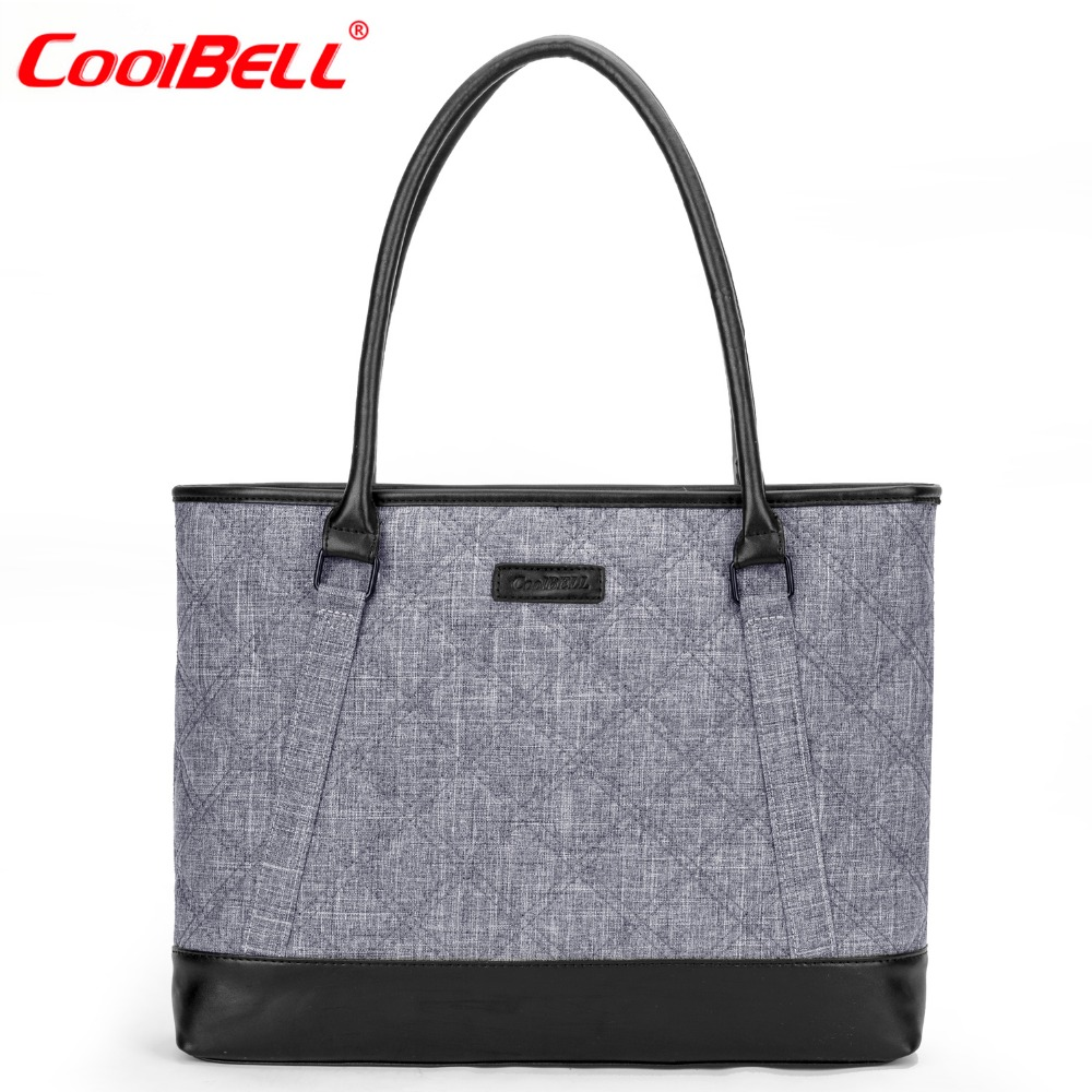 CoolBELL Fashion Women Tote Bag 15.6 Inch Laptop Handbag Nylon Briefcase Classic Laptop Bag Shoulder Bag Top Handle Bag