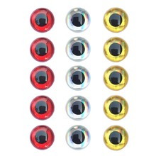 Fishing Lure Eyes 350pcs/set 3D Simulation Fly Fishing Crankbait Minnow Artificial Fish Eyes Silver/Red/Gold 3mm/4mm/5mm/6mm