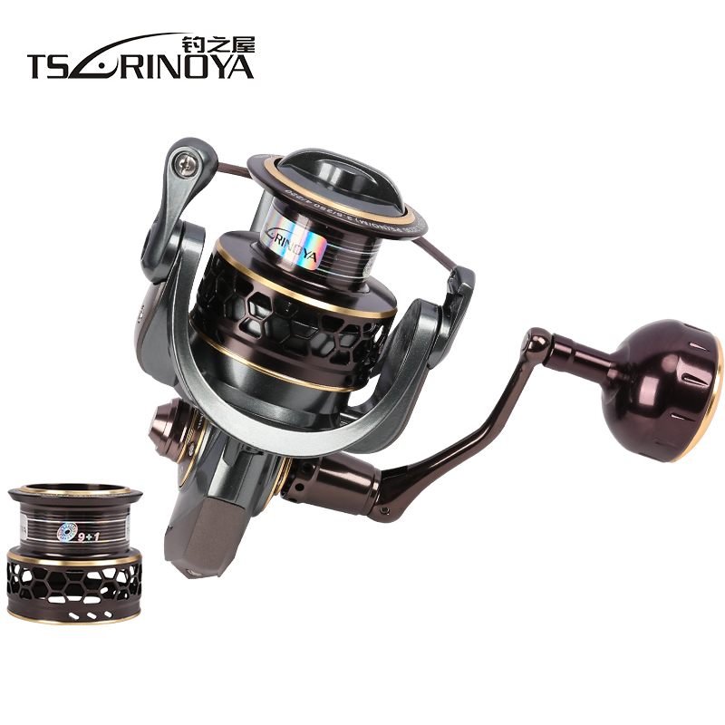TSURINOYA Jaguar 4000 Fishing Spinning Reel 9+1BB 5.2:1 Max Drag 7kg Double Spool Molinete Para Pesca Saltwater Fishing Reel tsurinoya jaguar 4000 spinning fishing reel double spools 9 1bb 5 2 1 max drag 7kg wheel moulinet carretilhas de pesca coil