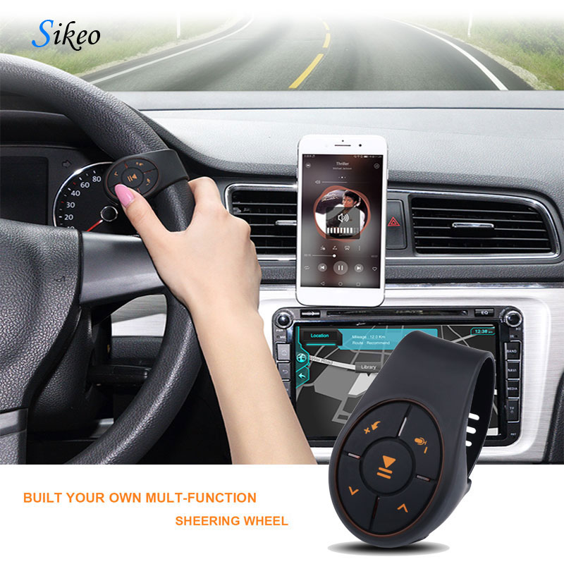 Sikeo Bluetooth Steering Wheel Controller Directional Lever Installation Receiver MultiFunction Auto Bluetooth Car Kit Suit