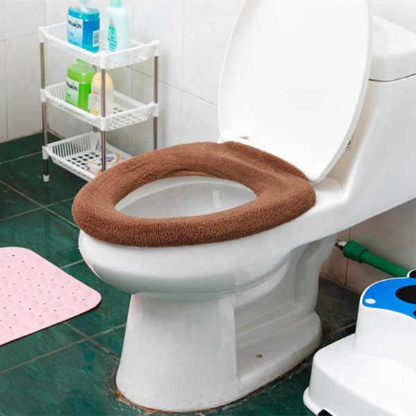Чехол для унитаза, коврик для ванной комнаты, моющаяся грелка, тканевый коврик, Мультяшные плюшевые коврики, утолщенные чехлы на унитаз DTT88