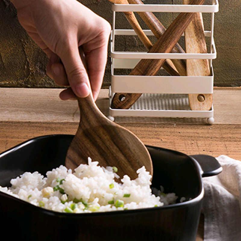 Houten Keuken Lepel Teak Hout Rijst Lepel Rijst Paddle Hout Eetlepel Grote Aardappel Opscheplepel Houten Keukengerei Servies