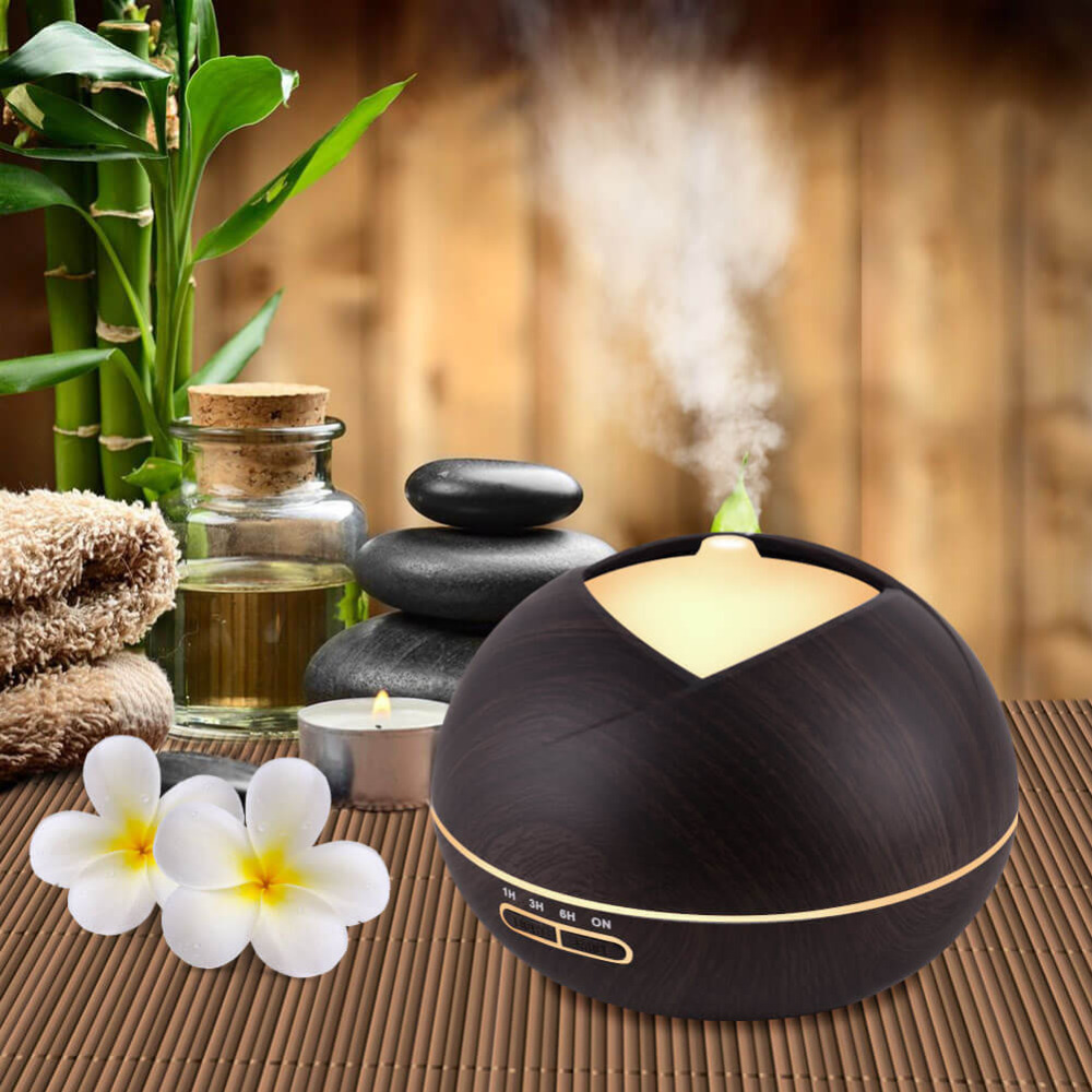 400ML Air Humidifier Ultrasonic Aroma Essential Oil Diffuser Cool Mist Maker Aromatherapy with Wood Grain for Home Office humidifier essential oil diffuser portable home woodgrain grain aroma cool mist mini humidifier maker aromatherapy air purifier
