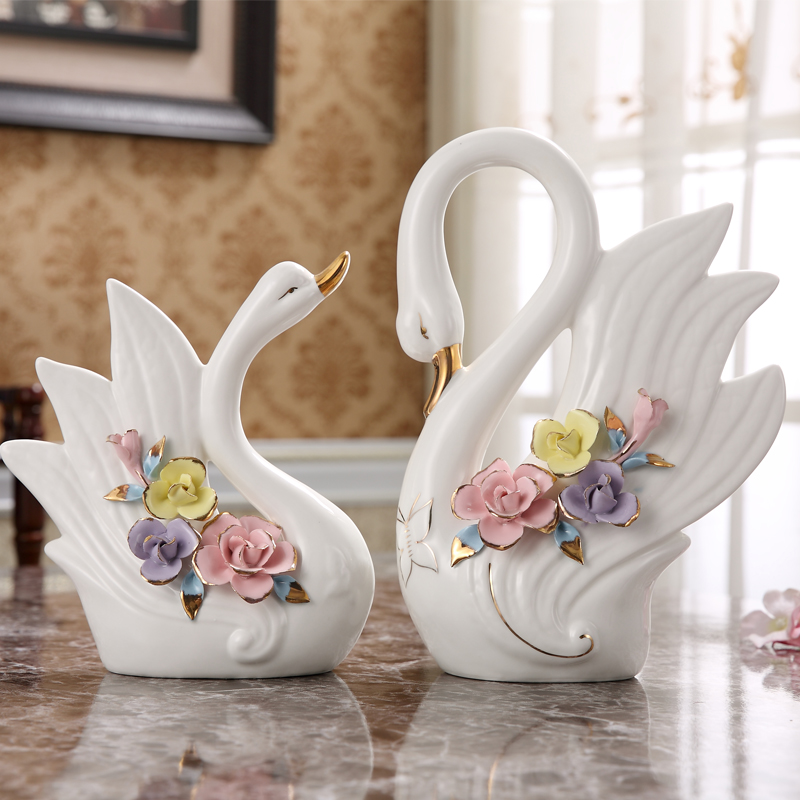 White Ceramic Butterfly Swan Home Decor Crafts Room Decoration Rhaliexpress: Swan Home Decor At Home Improvement Advice