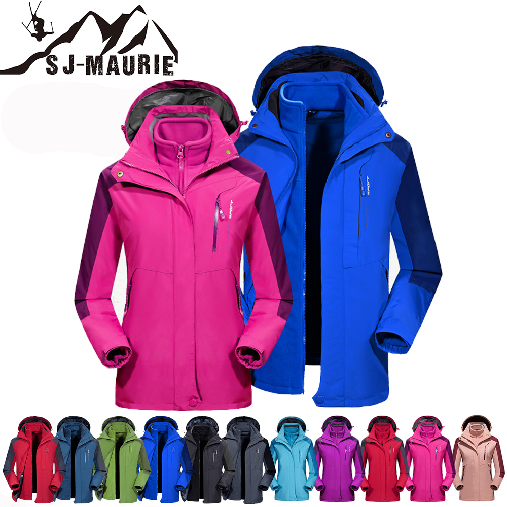 Sj-maurie veste imperméable pour hommes et femmes combinaison de Ski ensemble veste de Snowboard chaud mâle vêtements de Ski pour la randonnée Ski M-7XL