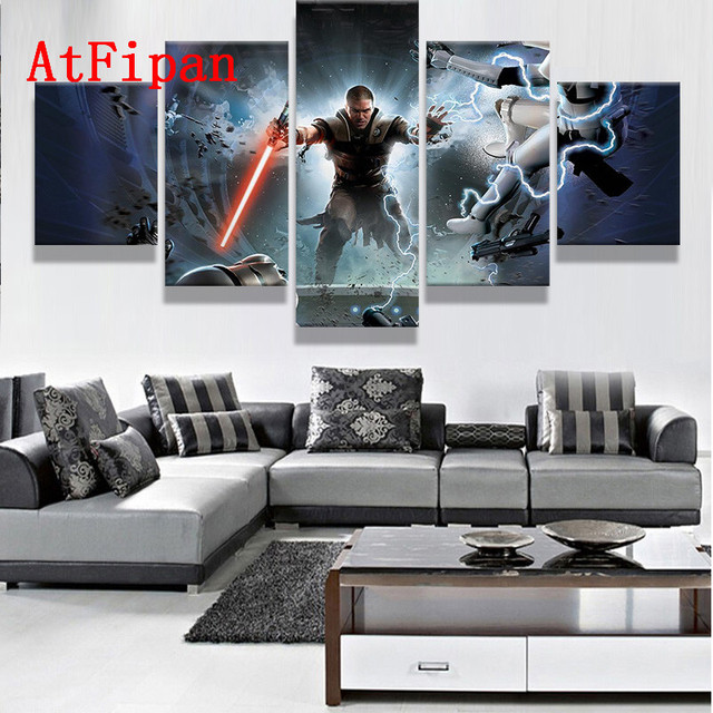Atfipan Canvas Paintings For Living Room Star Wars The Force