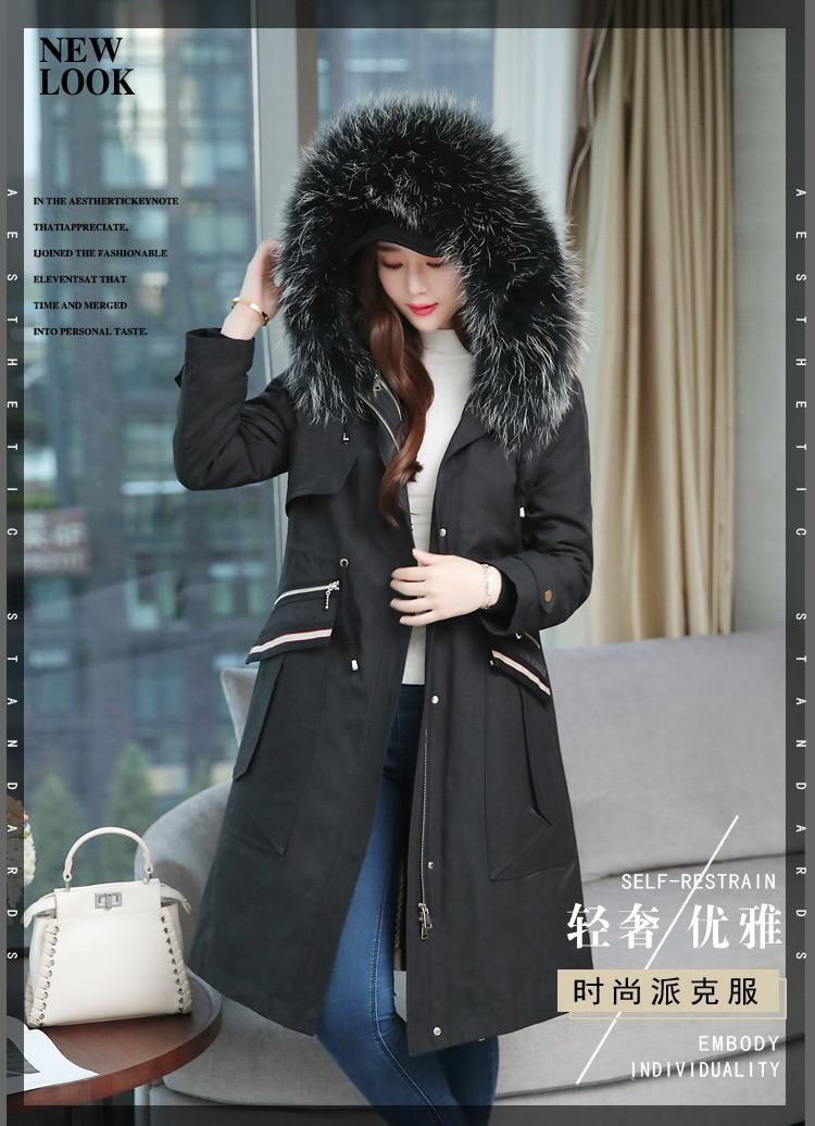Abrigo capucha piel conejo
