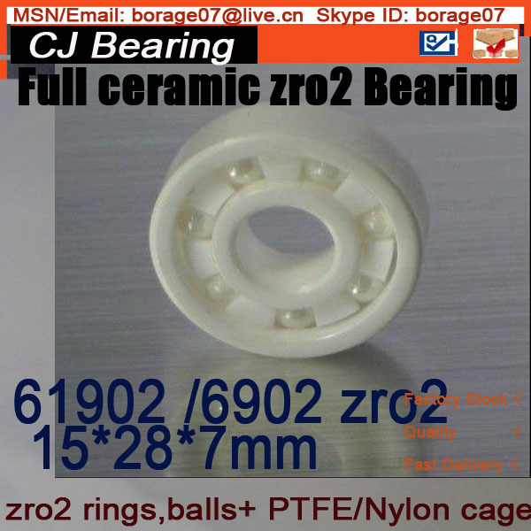 6902 zro2 CB full ceramic bearing 61902 ZRO2 ceramic bearing 15*28*7mm 15268 2rs ceramic wheel hub bearing zro2 15268 15 26 8mm full zro2 ceramic bike bearing