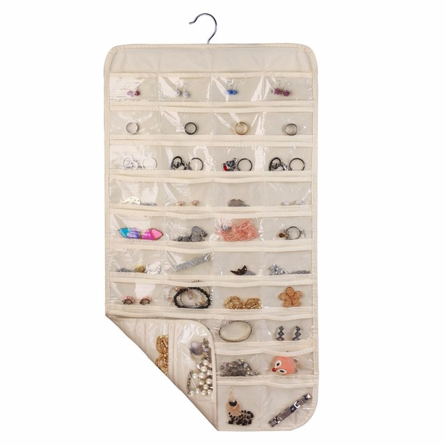 Hanging Jewelry OrganizerHome OrganizerNatural Canvas Ultra 80