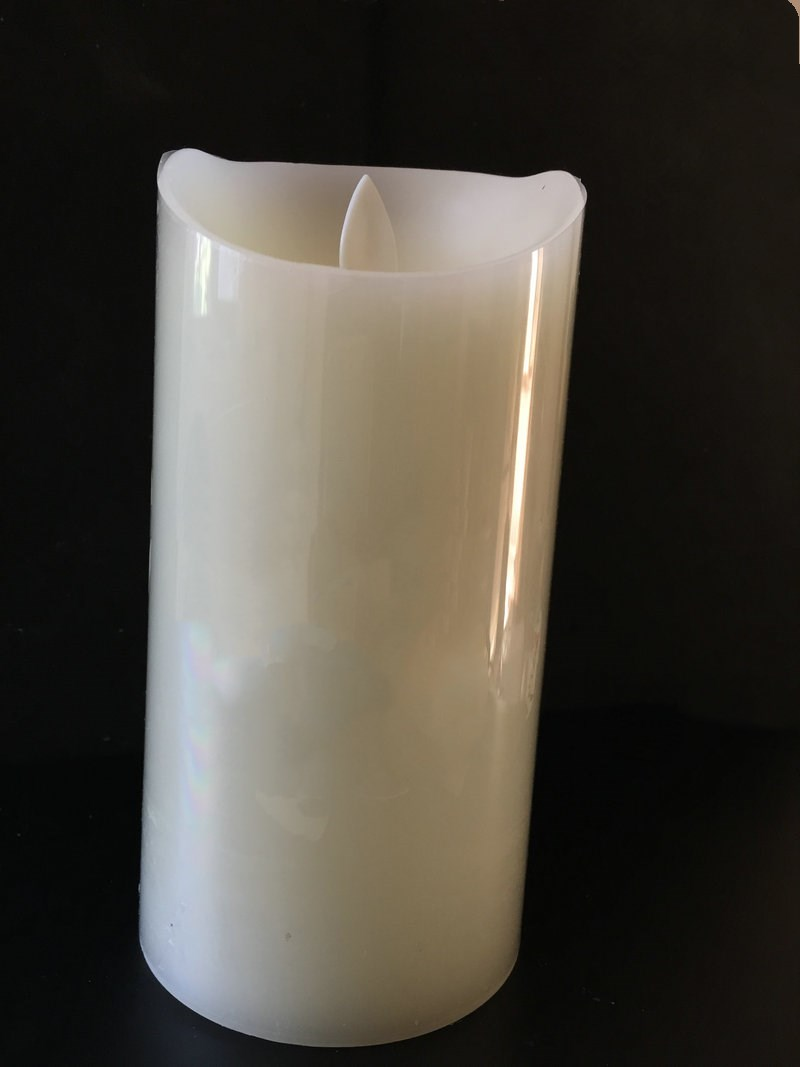 Image 3 - set of 3 Flickering Flameless Pillar LED Candle Remote controlled timer Moving Dancing wick melted edge Wedding Xmas Party AmberCandles   -
