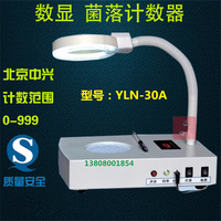 YLN 30A Colony counter Bacteria quantity counting machine Bacterial tester Built in magnifying glass With lamp Lab supplies