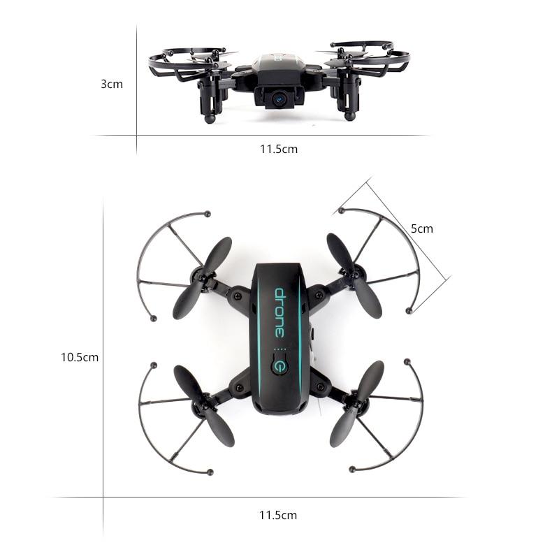 Wifi FPV mignon Selfie Mini Drone et caméra hélicoptère hauteur garder radiocommande enfants jouet Drone quadrirotor pliant Drone - 5