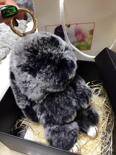 Милый Зайчик Кошелек Шарм сумка сумка аксессуары kawaii Кролик подвески сумка шарм брелки Зеленая мята Сек Подлинная Пушистый