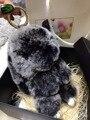 Conejito lindo Del Encanto Del Monedero del bolso del totalizador accesorios kawaii Conejo colgantes del encanto del bolso llaveros Bocanadas de Menta Verde Genuino Mullidas