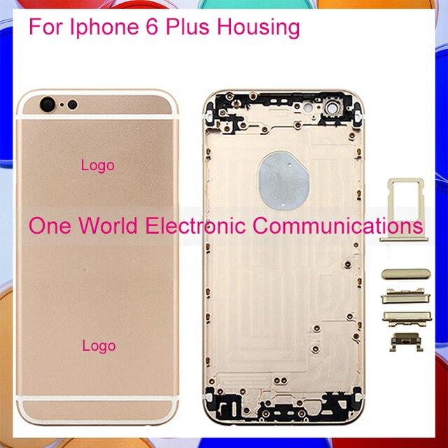 """Черный Белое Золото Выросли на 5.5 """"для Iphone 6 Plus Шасси Ближний Металлический Каркас Сплава Корпус Задняя Крышка Батарейного Отсека Случае Код Отслеживания"""