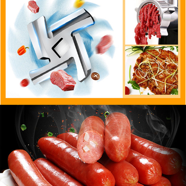 220V Fully Automatic Household Electric Meat Grinder Mincing Machine Stainless Steel Grinder Food Processor RS-JR08A 4