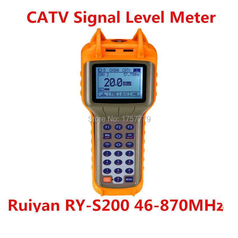 Ruiyan RY-S200 46-870 MHz Digitale CATV Signal Level MeterRuiyan RY-S200 46-870 MHz Digitale CATV Signal Level Meter