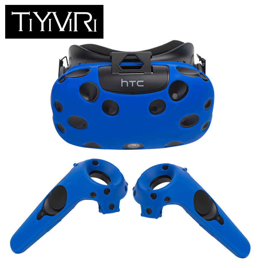 For HTC Vive Headset VR Silicone Case Cover Anti-slip VR Glasses Helmet Controller Handle Case Shell Virtual Reality цена