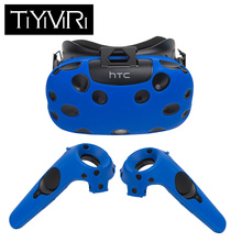 For HTC Vive  Headset VR Silicone Case Cover Anti-slip VR Glasses Helmet Controller Handle Case Shell Virtual Reality цена и фото