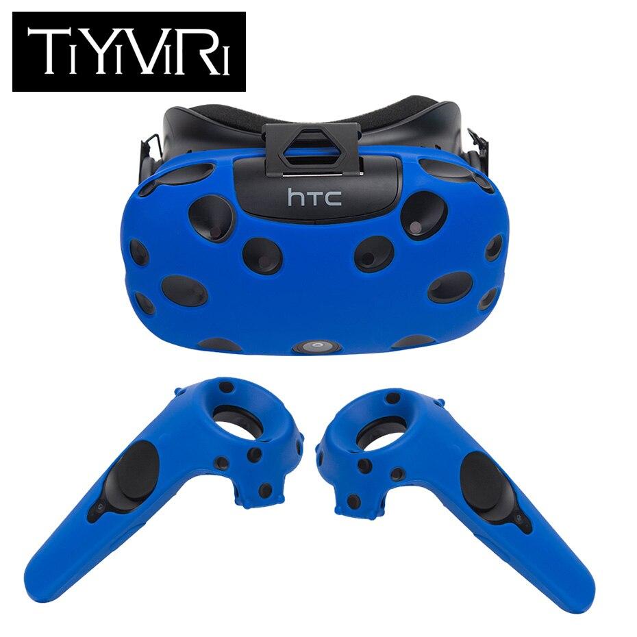Per HTC Vive Auricolare VR Copertura Della Cassa Del Silicone Anti-slittamento VR Occhiali Casco Impugnatura del Controller di Caso Borsette di Realtà Virtuale