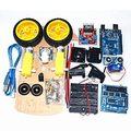 Новый Умный автомобильный двигатель для отслеживания автомобиля  умный робот  автомобильный корпус  2WD набор  ультразвуковой датчик для ...