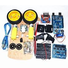 AINY-Smart Car Tracking Motor Smart Robot Car Chassis 2WD Kit Ultrasonic HC-SR04 Sensor for Arduino DIY(China)