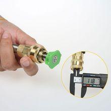 Novo cabeça da pistola de água de Alta pressão de conexão ao vivo inserção rápida 1/4 conjunto de tomada de rosca máquina de limpeza de cabeça da pistola M14 12mm