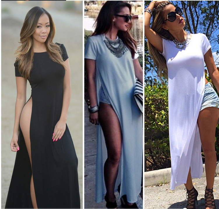 t shirt dress with slits on side